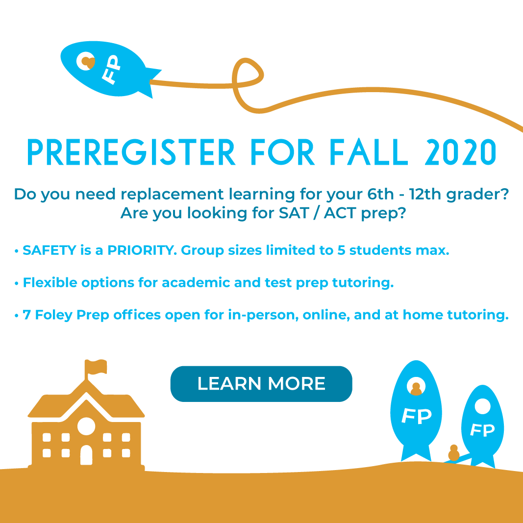 Pre-register now for Foley Prep's Supplemental Learning Fall 2020