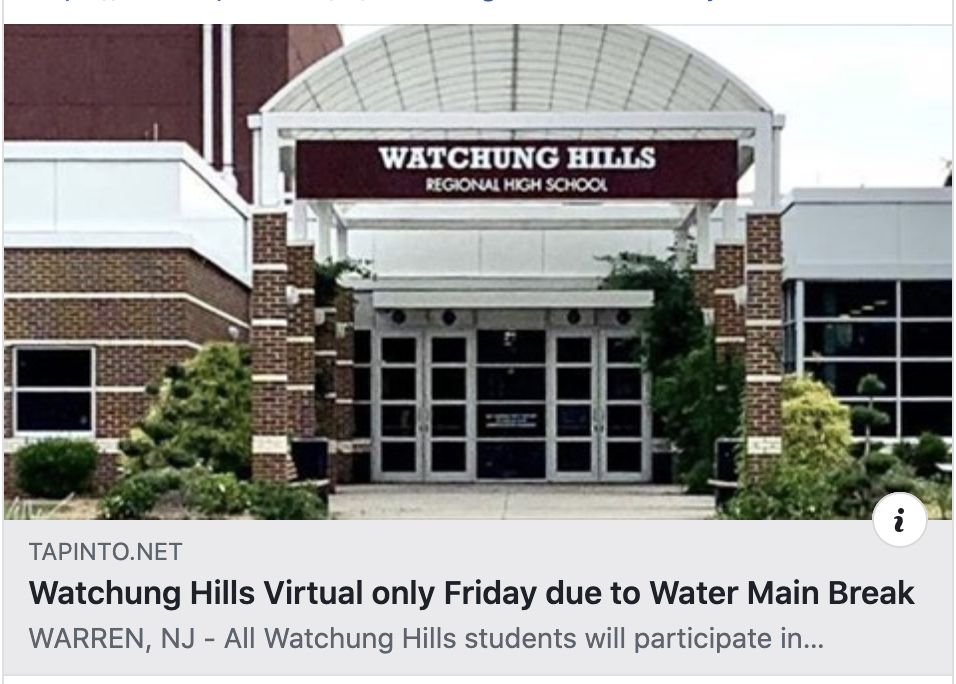 Holmdel High School SAT canceled. WRHS all virtual today.